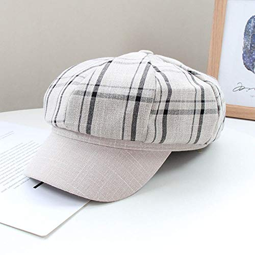 Barett Cap Herbst Zeitungsjungenkappen Für Frauen Retro Plaid Achteckiger Hut Modemaler Hüte Winter Damen Baskenmützen Chapeau M 3