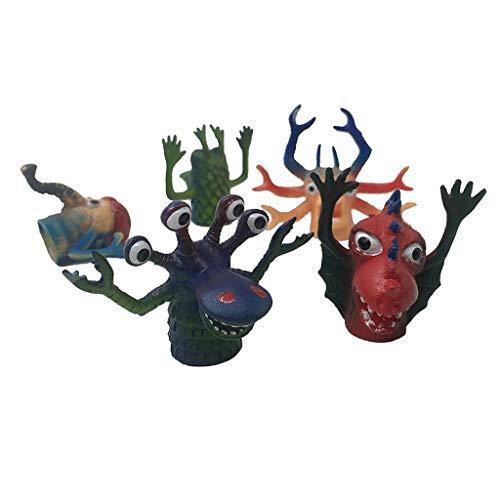 dailymall Juego de Marionetas de Dedo de Animales, Juguete de Monstruo de Goma Pequeño, Marioneta de Dedo de Animales para Niños, Favores de Fiesta para Niños,