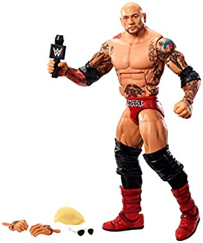WWE Batista Elite Series #72 Deluxe Action Figure with Realistic Facial Detailing Iconic Ring Gear & Accessories