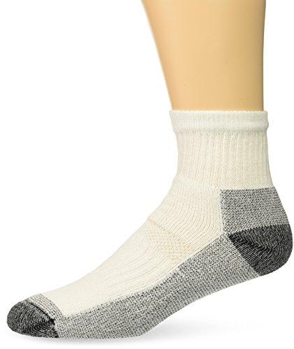 Fruit of the Loom Men's 5-Pair Work Gear Short Boot Crew Socks, White, Shoe Size: 6-12 (Large)