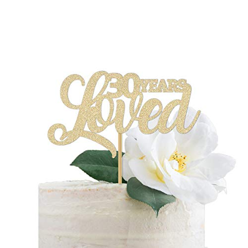 30e verjaardag taart topper 30 jaar hield van goud glitter voor een man of vrouw