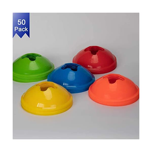 BROWNREESE Sport Soccer Disc Cones Sets 50-Pack Agility Disc Cones Perfect for Soccer,...