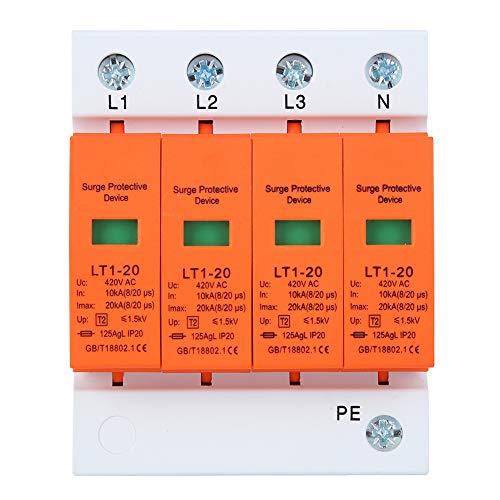 Überspannungsschutzgerät, Überspannungsschutz für das Ganze Haus SurgeBreaker Arc Module 4P LT1‑20 20ka Modulare Anti-Thunder-Geräte Orange