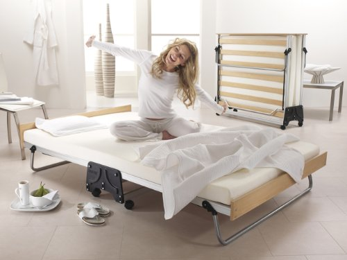 JAY-BE J-Bed Double Folding Bed with Memory Foam Mattress, Aluminium Frame and Exclusive J-Lok