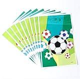 COMPY 10 Teile/los Einweg Geschirr Liefert Pappteller Fußball Fußball Thema Kinder Favor Jungen Happy Birthday Party Dekoration Pappteller 7 Zoll Partei Liefert, beutetasche 10 stücke