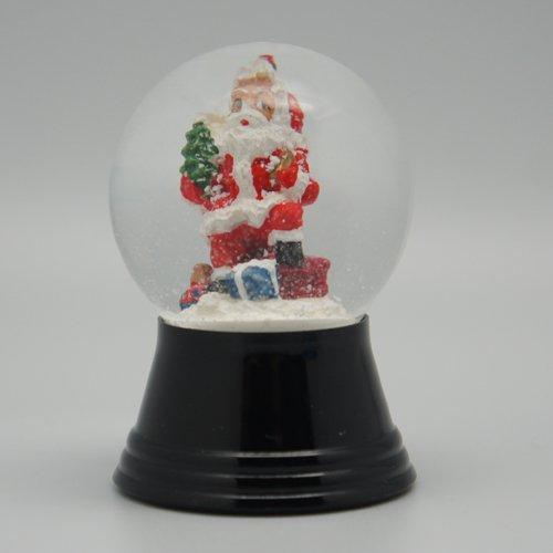 オーストリア・PERZY製スノーグローブ(スノードーム) 「サンタとプレゼント」 45mmタイプ #1214