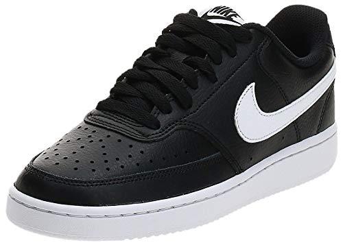 Nike Damen Court Vision Low Sneaker, Black/White, 42.5 EU