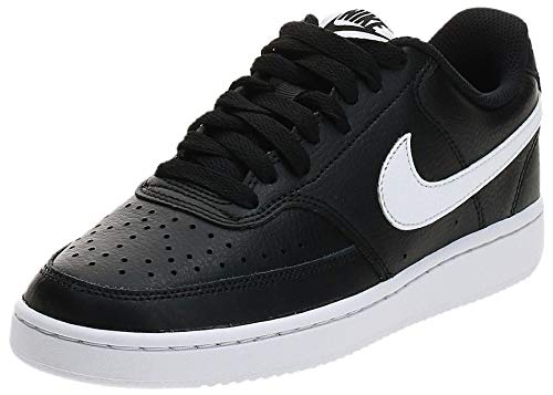 Nike Wmns Court Vision Low, Scarpe da Basket Donna, Nero (Black/White 001), 38.5 EU