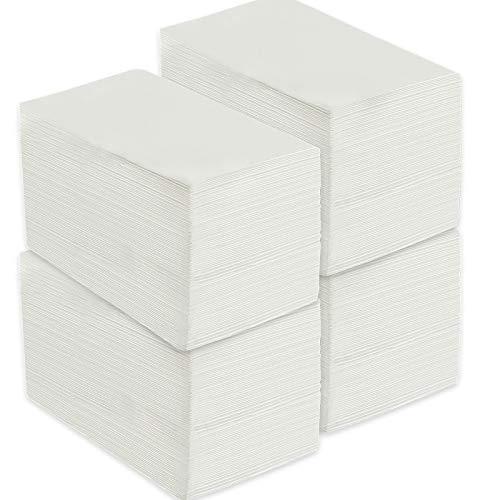400 Pack vplus Premium Quality Guest Towels Disposable Dinner Napkins Soft, Absorbent, Party Napkins for Wedding Reception ,Parties, Dinners or Catering Events,and Everyday Use (White, 400)