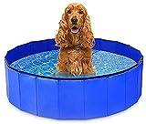 Piscina para perros Perro plegable PET PET Niños Baño Piscina Piscina Pool Pool Portátil CLORURO DE POLIVINILO Tina de baño de gato para perros de perro grande antideslizante Piscina para perros para