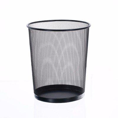 Papeleras XiuxiutianNo Hay Cubierta metálica papeleras de Oficina Dibujo 29.5 * 34cm, Negro