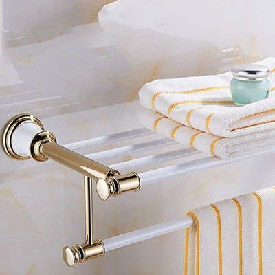 European Towel rack single double pole witgoud spray handdoekhouder bad hardware hanger