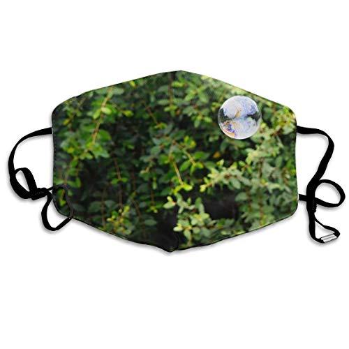 Dnwha polyester masker, bubbels op bladeren, stofdicht masker, met knoppen om de dichtheid aan te passen, geschikt voor iedereen