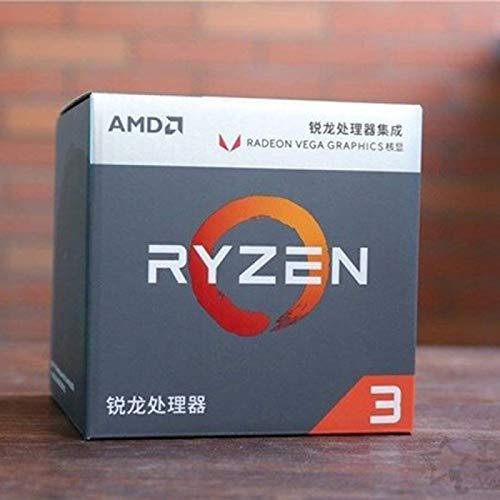 SUNHUALIN Procesador AMD Ryzen 3 3200G R3 3200G 3.6 GHz Procesador de CPU de Cuatro núcleos y Cuatro Hilos 65W L3 = 4M R4.0