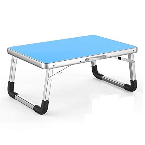 HJCA – klaptafel voor laptop, opvouwbaar, multifunctioneel, kleine slaapkamer, werkkamer, slaapkamer, 70 x 50 x 32 cm (kleur: blauw), bijzettafel voor camping