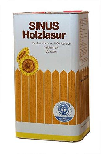 4 x 5 Liter Sinus Holzlasur / Holzschutzlasur - verschiedene Farbtöne (Farblos)