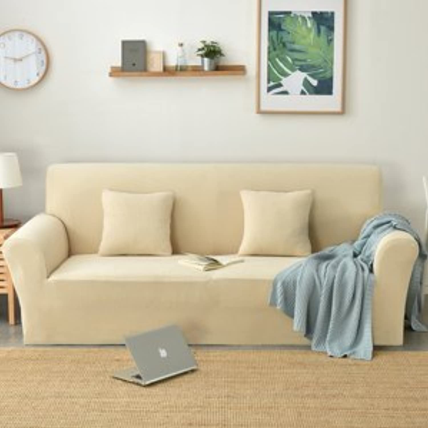 Svetanya Amazon Hot Slipcovers Solid color Sofa Cover All-Inclusive Couch Case for Different Shape Sofa S M L XL Size   20180295, S 90to140cm