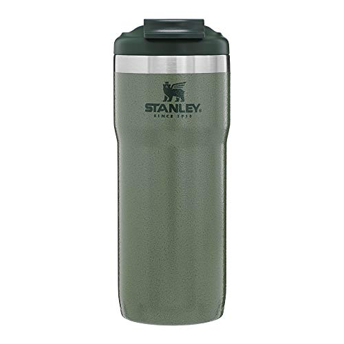 Stanley Classic Twinlock Travel Mug with Steel Loop 16oz, Leak-Proof, Packable Hot & Cold Thermos, Double Wall Vacuum Insulated Tumbler for Coffee, Tea & Drinks, BPA Free Stainless-Steel Travel Mug