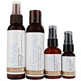Amalou Skin - Complete Regimen Kit - Reveal Exfoliating Face Wash, Prime Detoxifying Tonic, Glow Balancing Moisturizer and Restore Night Treatment, Natural Anti-Aging Skin Care Set
