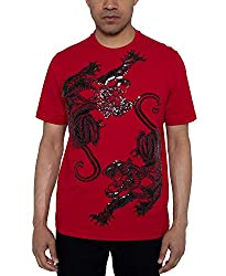 Red Panther Dance Sequin Graphic T-Shirt