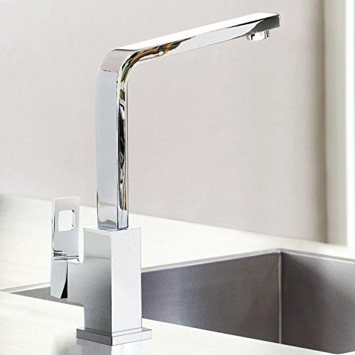 Grohe – Eurocube Küchenarmatur, Schwenkbereich 360°, hoher Auslauf, Chrom - 7