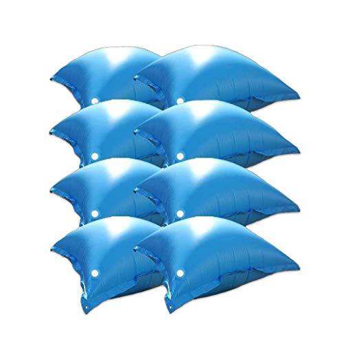 well2wellness® 8 x Pool Luftkissen, Poolkissen und Winterkissen für Abdeckplanen mit neuem Ventil und 4 Ösen
