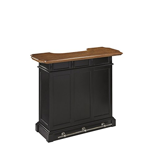 Americana Black and Oak Bar by Home Styles