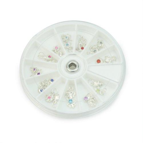 24 Multifarbe Strass Nagelsticker Nagel Sticker Nail Tips Nagelpiercing Anhänger