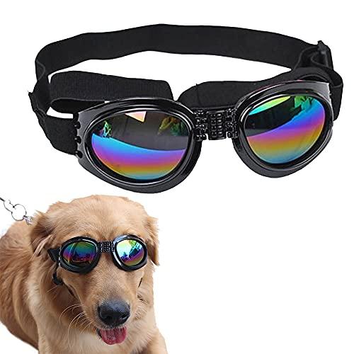 Speyang Perros Gafas de Sol, Gafas para Perros, Gafas de Sol Plegables para Perros, Gafas de Sol UV para Perro, Gafas para Mascotas para Prueba de Viento, Arena y UV