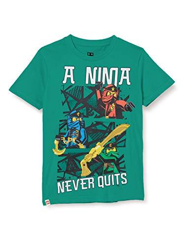 LEGO Jungen MWe Ninjago T-Shirt, 831 Light Green, 122