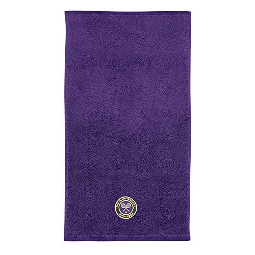 Wimbledon - Toalla de mano para hombre, diseño con emblema bordado, color morado