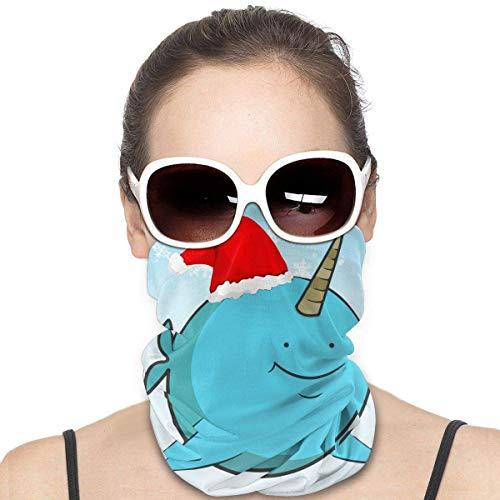 Weihnachtliches Narwhal Mode Vielfalt Kopftuch nahtlose Gesichtsmaske Bandanas für Staub, Outdoor, Festivals, Sport