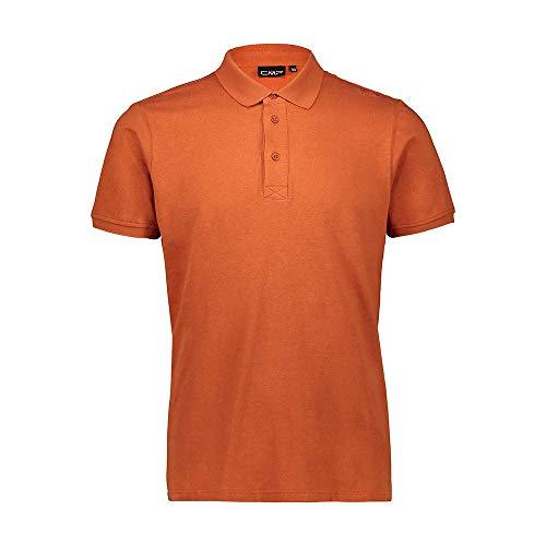 CMP T-Shirt en Coton et Lin avec Protection UPF 40 T-Shirt pour Homme L Rust.