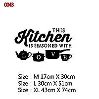 22スタイルの家の装飾アクセサリー壁画壁紙のポスターのための大規模なキッチンウォールステッカーホームデコレーションステッカービニールステッカー (Color : Style10, Size : Size M)