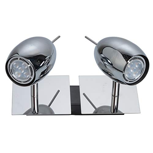 Urban moderne wandspot industrieel design 2-vlammig draaibaar chroom metaal kleur energiebesparende LED-lamp inclusief trappenhuis keuken gang incl.2 * 5W LED GU10