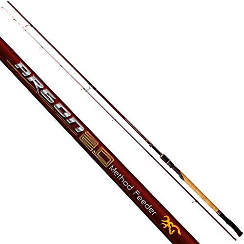 Browning Argon 2.0 - Canna da pesca con sistema di Feeder, 3,60 m, colore: Nero Rosso