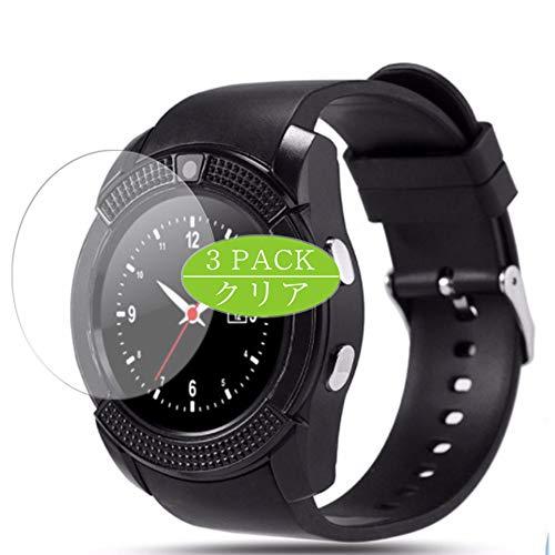 VacFun 3 Pezzi Pellicola Protettiva, compatibile con Mahipey/Padcod/KOMTOP-QQW/ASSOIAR/Topffy/Robesty V8 K200 smartwatch (Non Vetro Temperato) Protezioni Schermo Cover Custodia