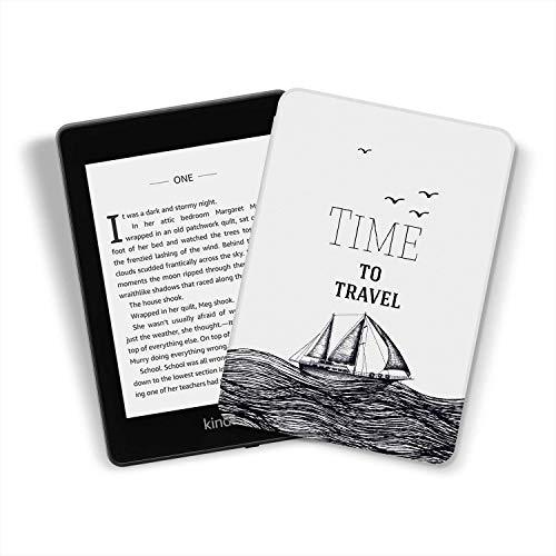 Kindle Paperwhite [10ª geração-2018, número do modelo: PQ94WIF] - Capa de couro inteligente durável para a Amazon, o mais recente Kindle Paperwhite 4