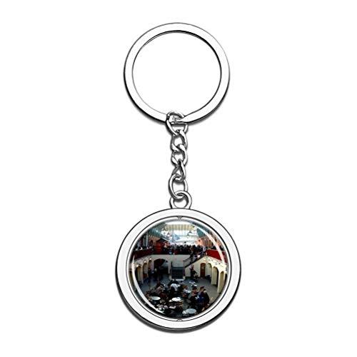 UK England Covent Garden London portachiavi portachiavi con catena in acciaio inox con cristalli e cristalli, regalo da viaggio