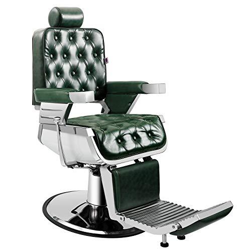 Artist Hand Barber Chair Vintage Heavy Duty Hydraulic Recline Salon Chair Barber Chairs for Hair Stylist Tattoo Chair Barber Salon Equipment