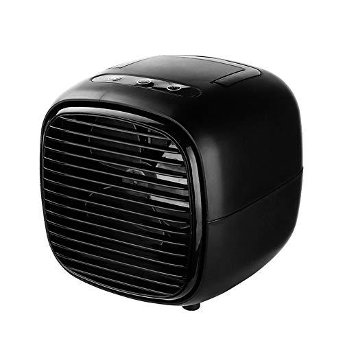M-GLT Mini Aire Acondicionado Ventiladores del refrigerador de Aire Ventilador de Mesa portátil USB para Oficina hogar Coche Dispositivo de refrigeración,Negro,Plus Fog