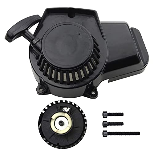 GOOFIT Kickstarter Zubehör Quad Dirtbike Seilzugstarter Ersatz für 2-Stroke 47cc 49cc Parts Mini ATV Pocketbike