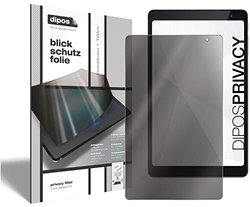 dipos I 2-Wege Blickschutzfolie kompatibel mit Vodafone Tab Prime 6 (Im Querformat) 2 Stück I Sichtschutz-Folie Bildschirm-Schutzfolie Privacy-Screen - Schützt gegen seitliche Blicke
