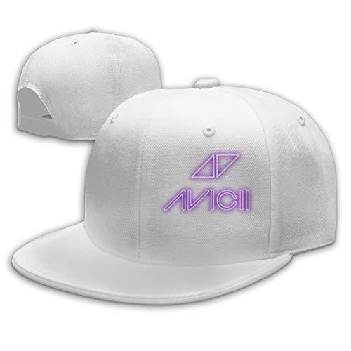 Lucyhu Verstellbar Damen Herren Avicii Logo White Snapback Baseball Hat Cap Baseballcap Kappe Flatbrim Mütze Für Jungen Mädchen