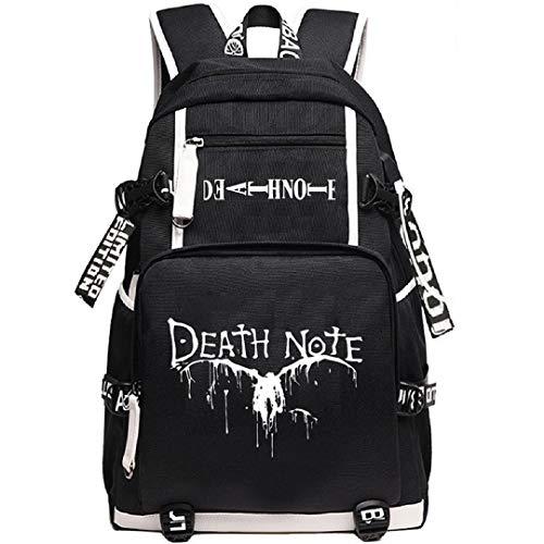 YOYOSHome Anime Death Note Cosplay Rucksack Daypack Bookbag Laptop Rucksack Schultasche mit USB-Ladeanschluss