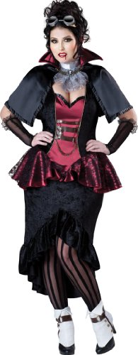InCharacter Costumes Women's Plus Size Steampunk Vampiress, Red/Black
