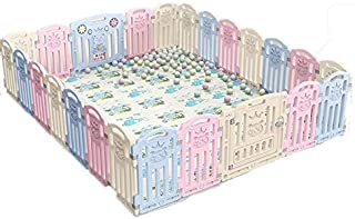 Hfyg Playpens Baby Play Fence Playpen Strong And Durable Foldable Portable for Indoors And Outdoors pens  Size 1 97x1 97m