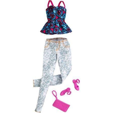 Barbie Paquete de moda de temporada con zapatos rosados