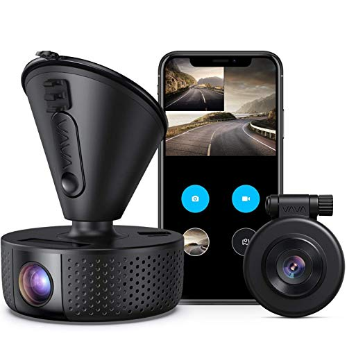 Dual Dash cam | VAVA Dual 1920x1080P FHD | Front and Rear dash camera | 2560x1440P Single Front| for...