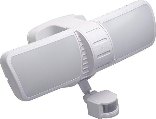 Meister LED-Außenstrahler - 20 Watt - Bewegungsmelder - 10 m Reichweite - Spritzwasserschutz - 1100 Lumen / Außenleuchte mit Bewegungssensor / Doppelleuchte / Wandfluter / Flutlicht / 7490100